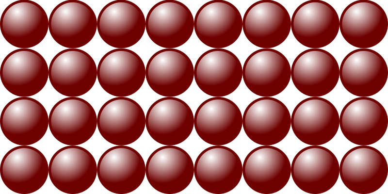 Beads quantitative picture for multiplication 4x8