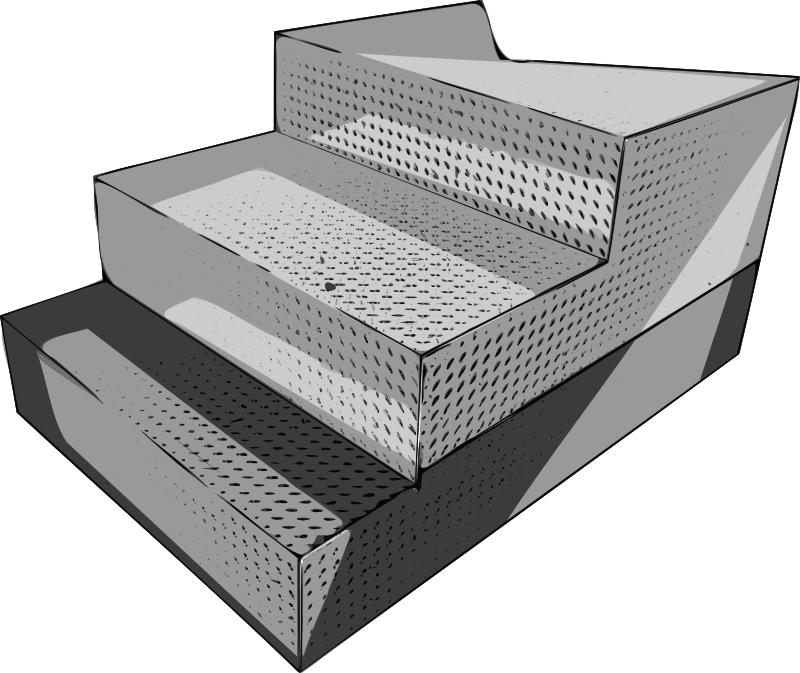 Diamond Pattern Steel Arena Steps