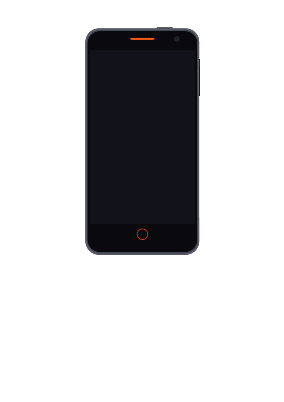 Firefox flame phone vector