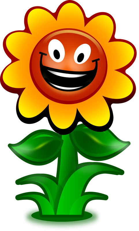 Cartoon flower, game character