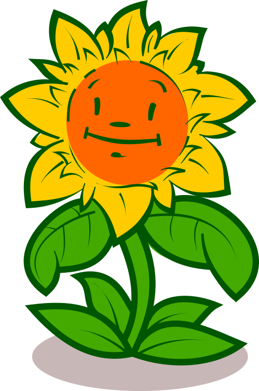 Cartoon flower - cute
