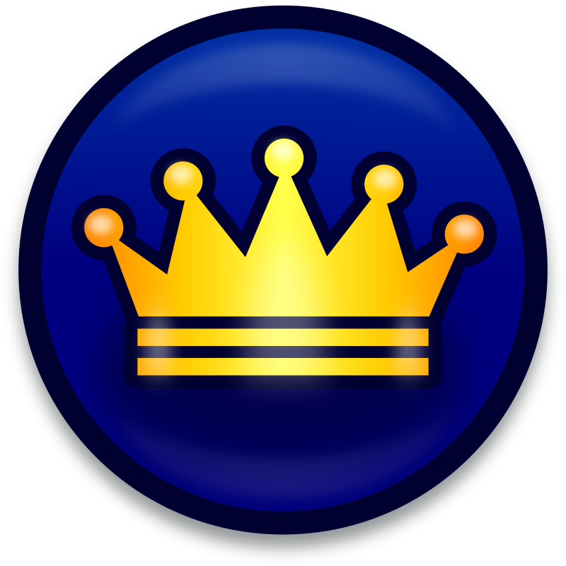 Golden crown symbol - icon