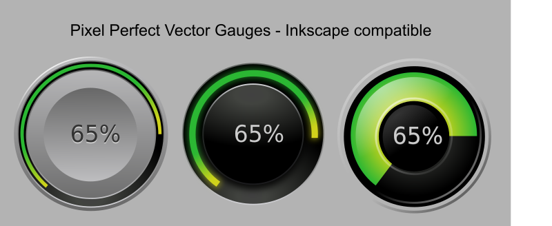 Gauges vector-based - superb quality