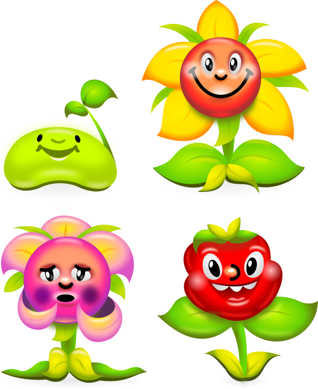 Flower Game Characters - superb production quality