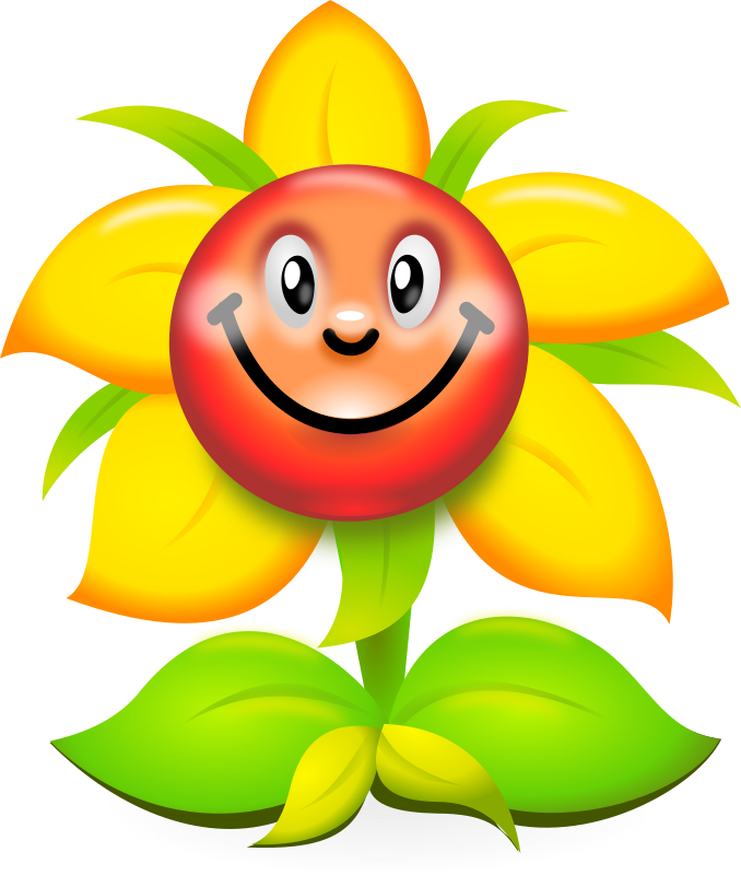 Funny Yellow Flower Character - superb production quality