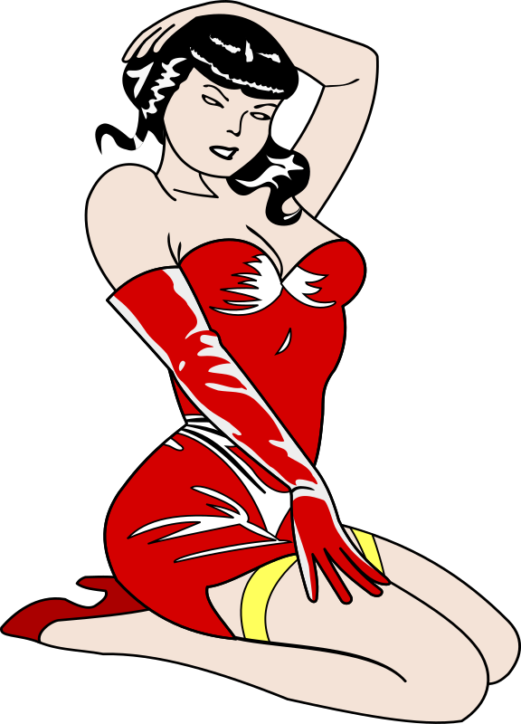 Old Style Pin-Up Girl