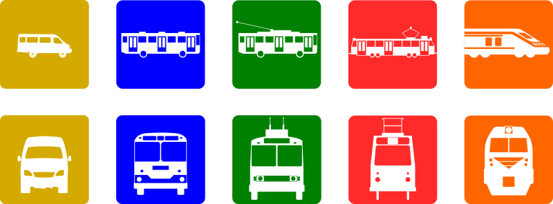 Public transport pictograms