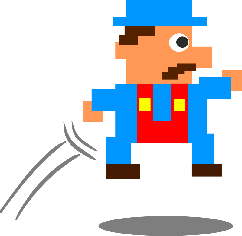 Jumping Pixel Guy