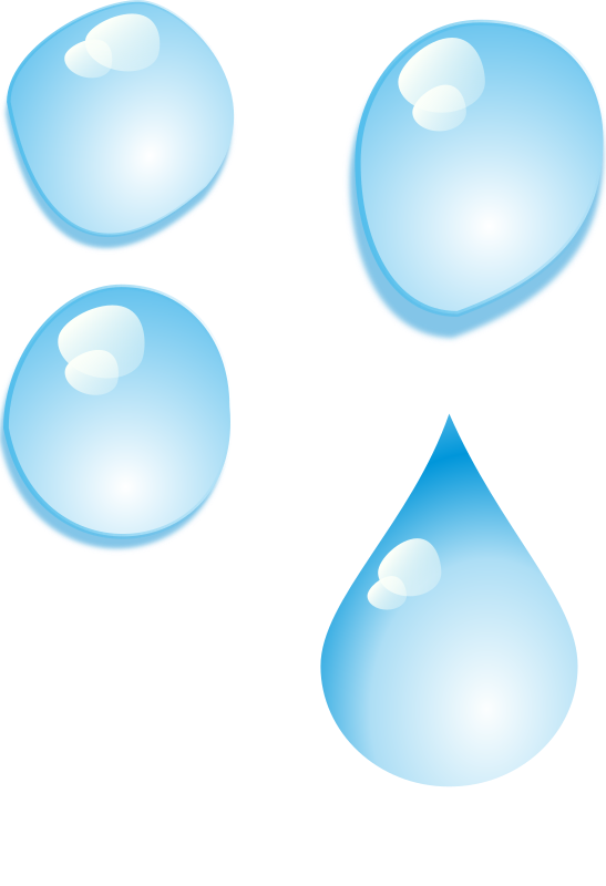 Set of water drops