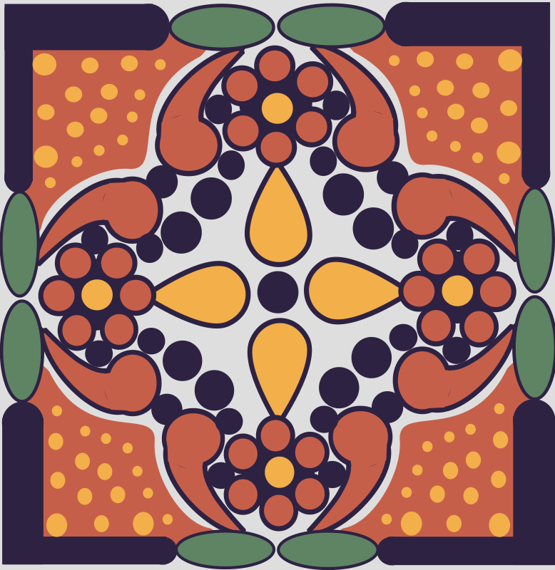 Mexican Tile Pattern - A