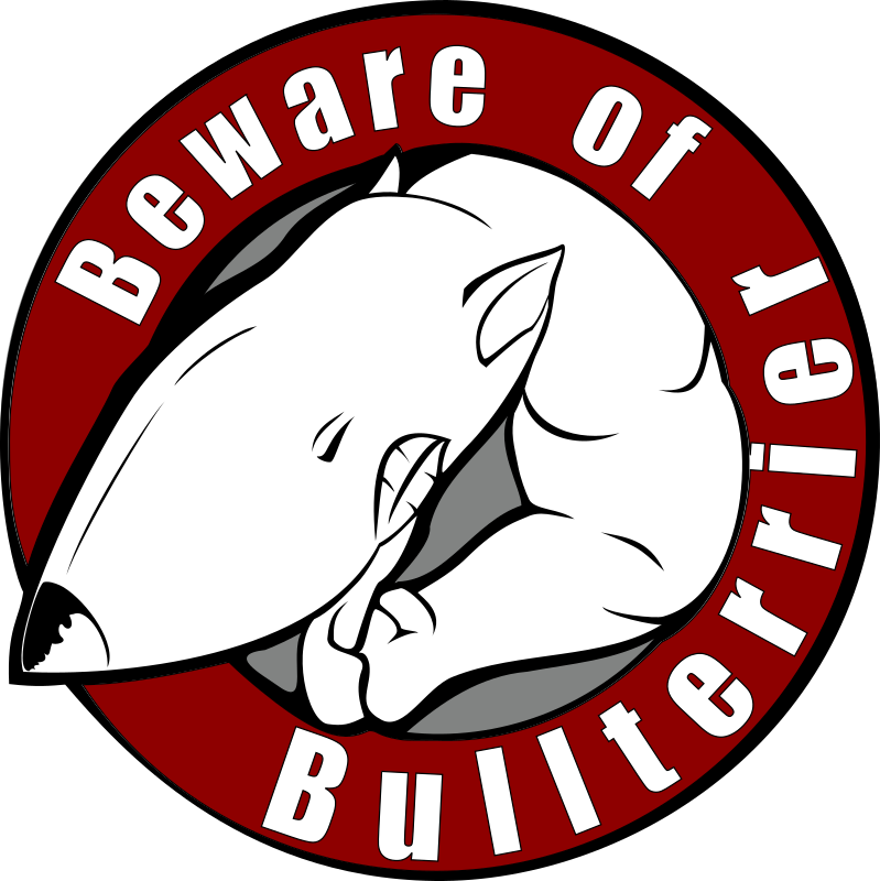 beware of bullterrier