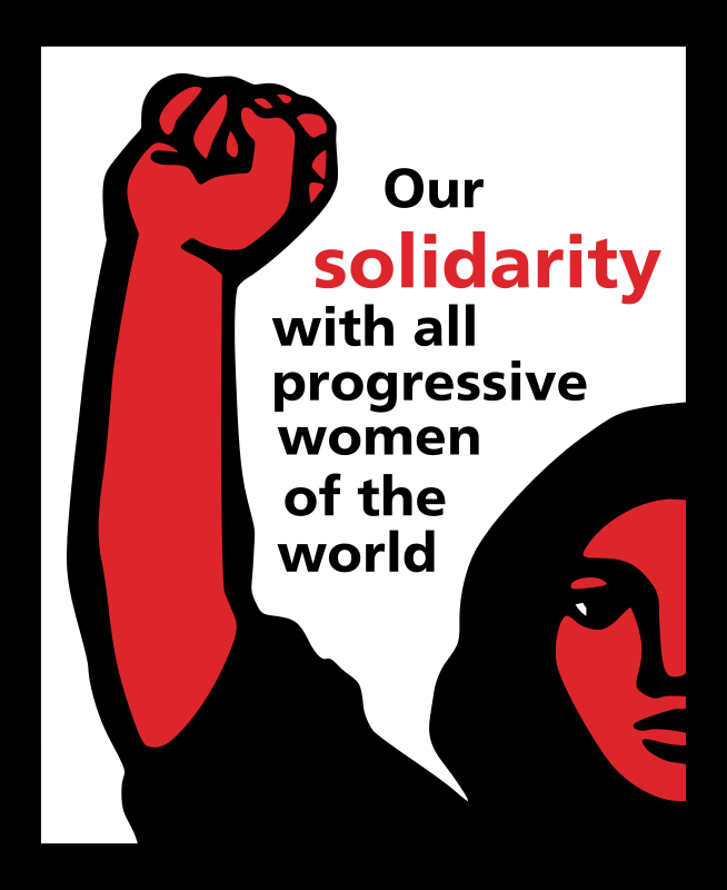 Our solidarity with all progressive women of the world