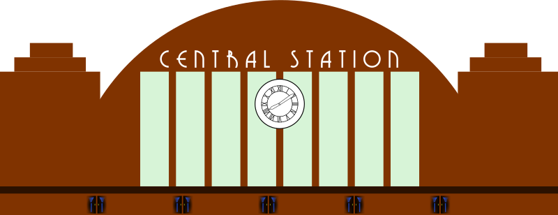 Art Deco Railway Station