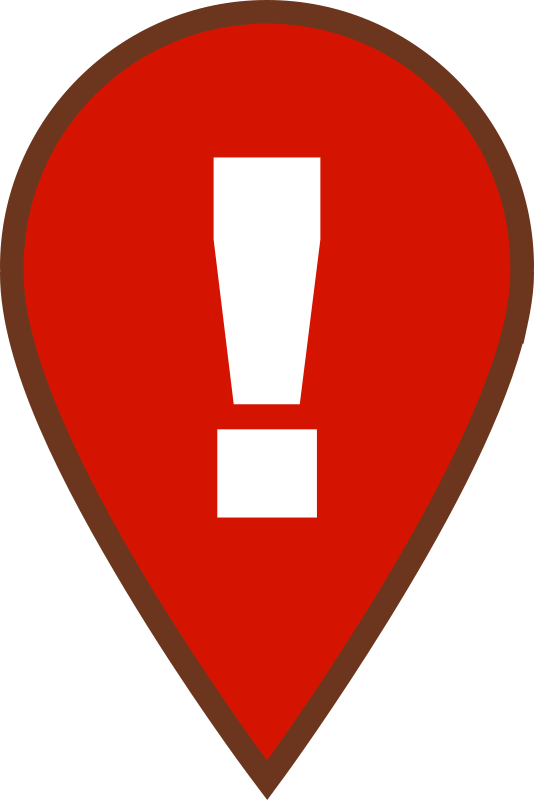Map Warning Icon