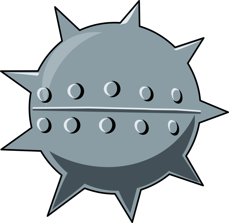 cartoon sea mine