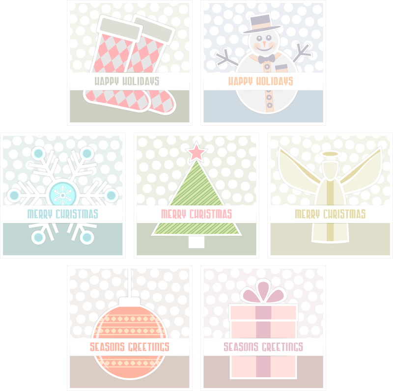 Simple Xmas Cards Set