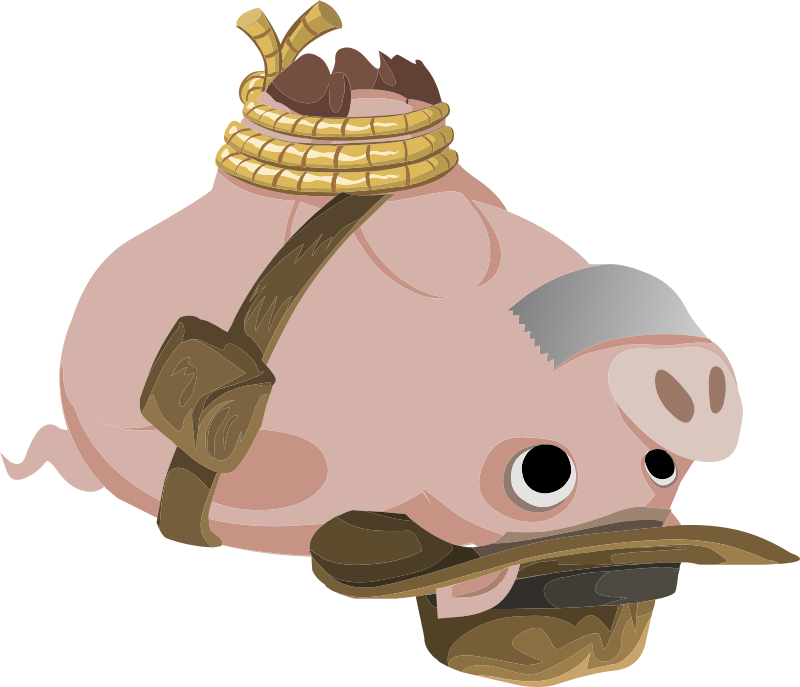 Inhabitants Hogtied Piggy Explorer