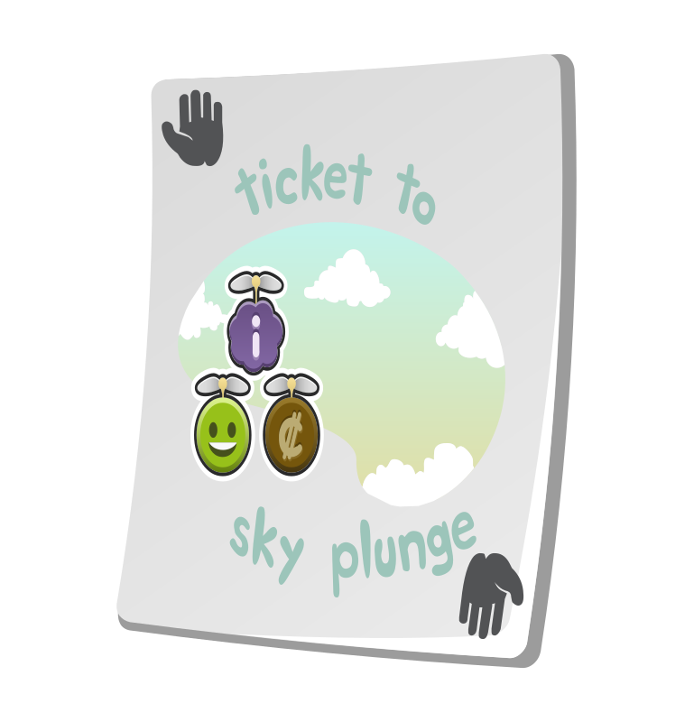 Misc Paradise Ticket Sky Plunge