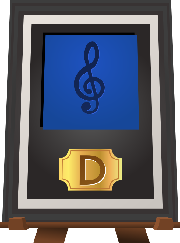 Trophy Music D Blue