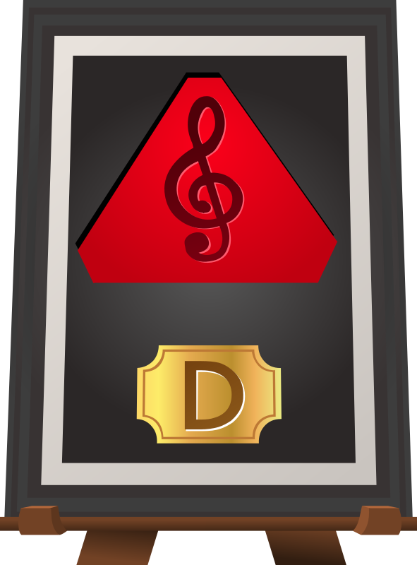 Trophy Music D Red