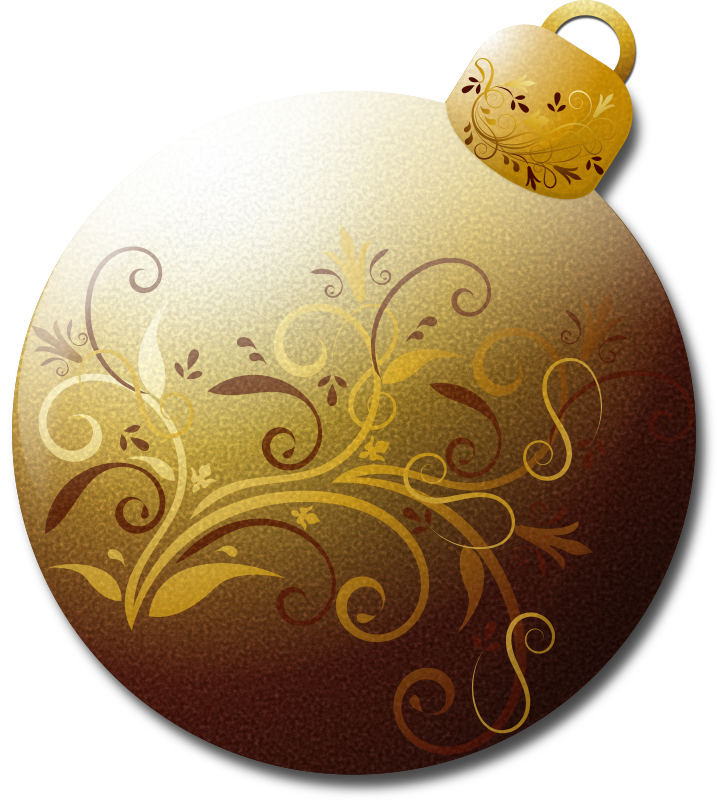 Gold Glass Ornament 1
