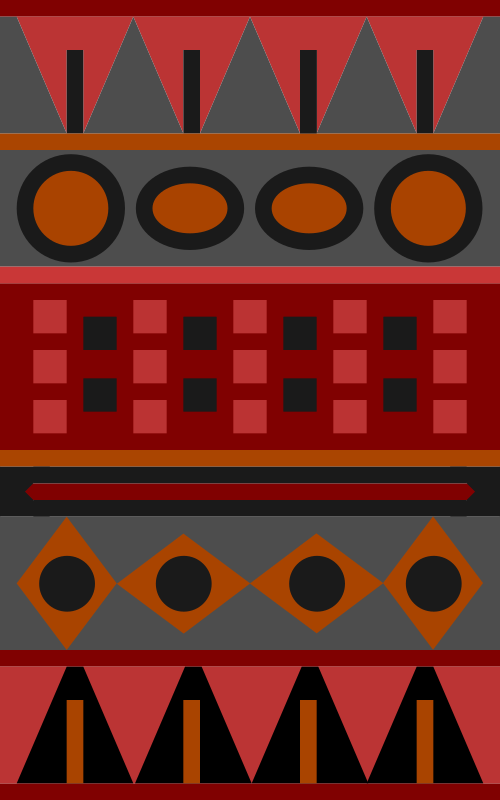 Red Aztec Pattern