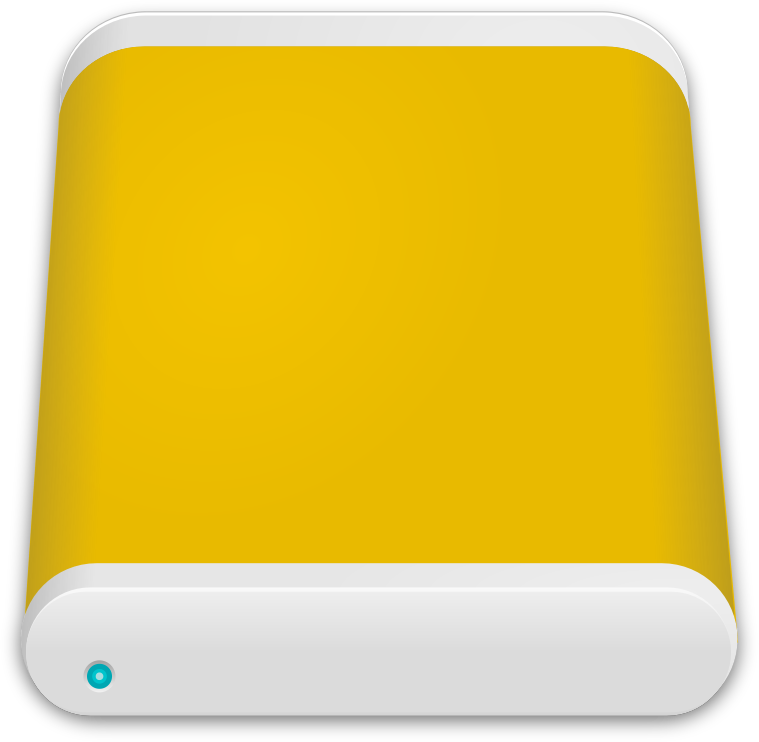 Yellow Hard Drive Icon