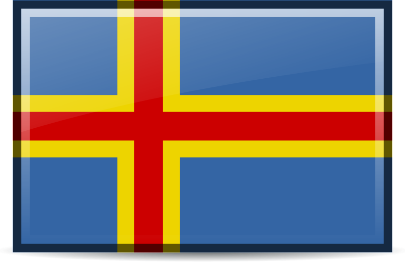flag aland islands