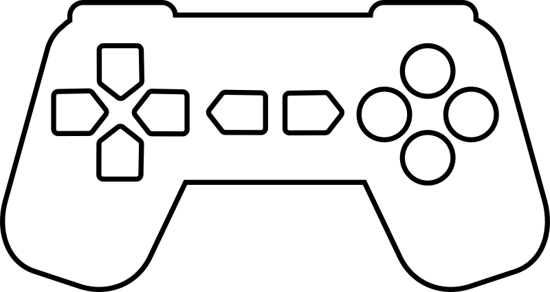 Game Controller Outline White