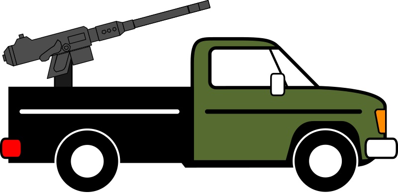 Technical, modified from pickup truck