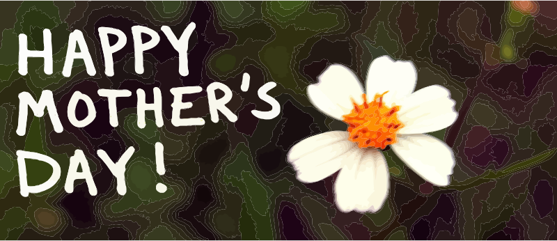 Happy Mother's Day banner with flower
