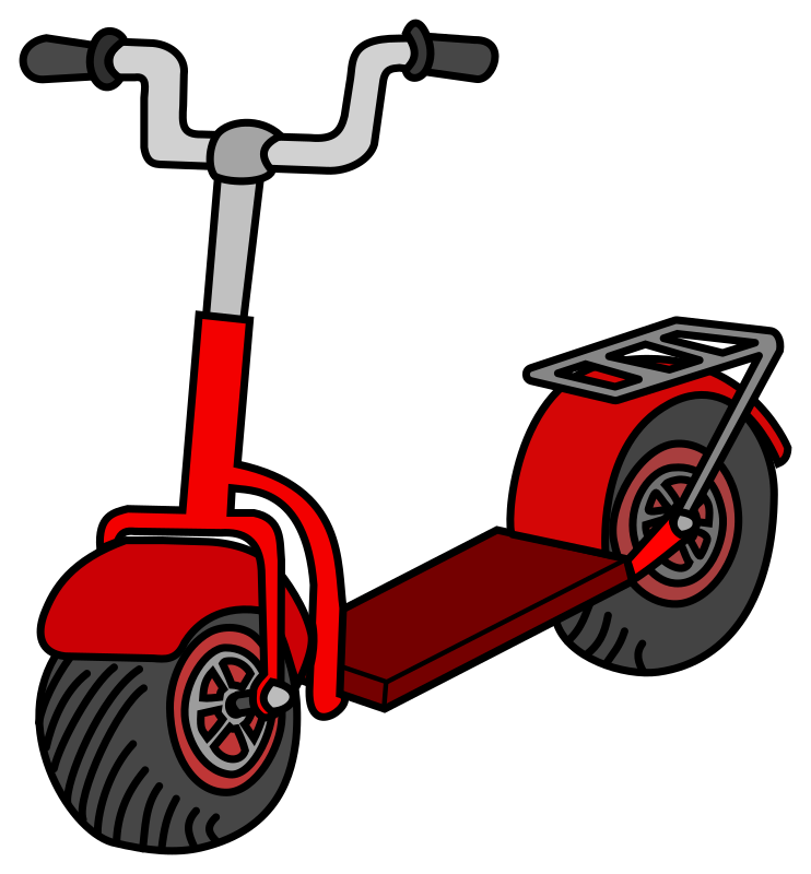 Kick scooter - coloured