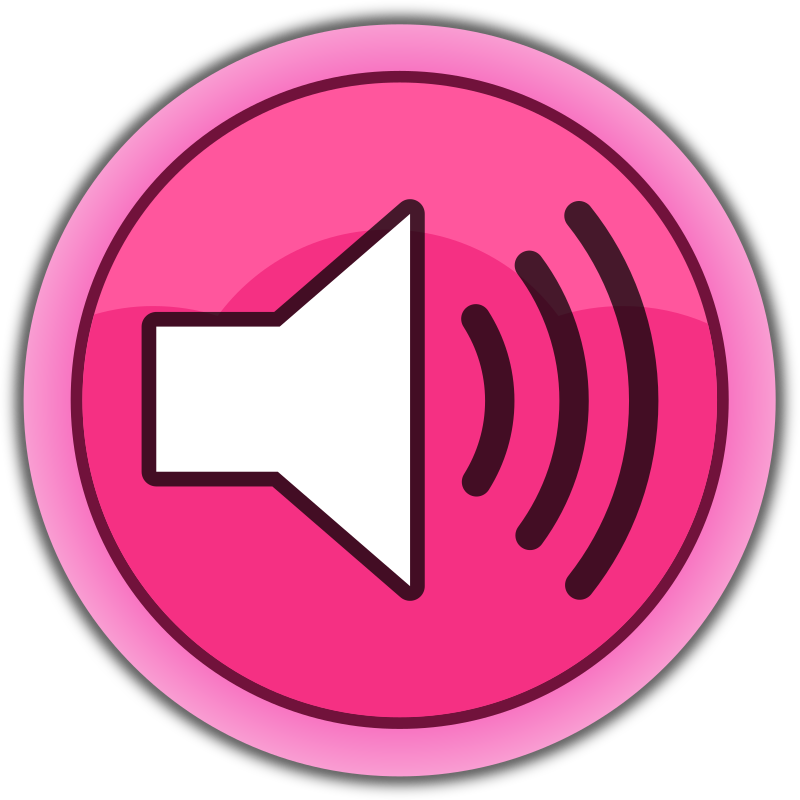 "Pink button ""Sound on"""