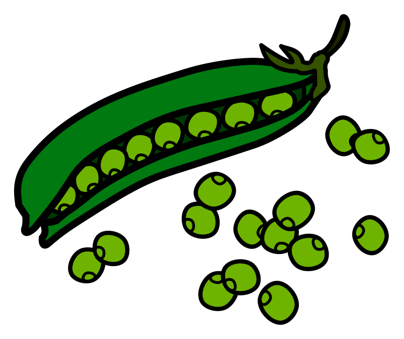 peas - coloured