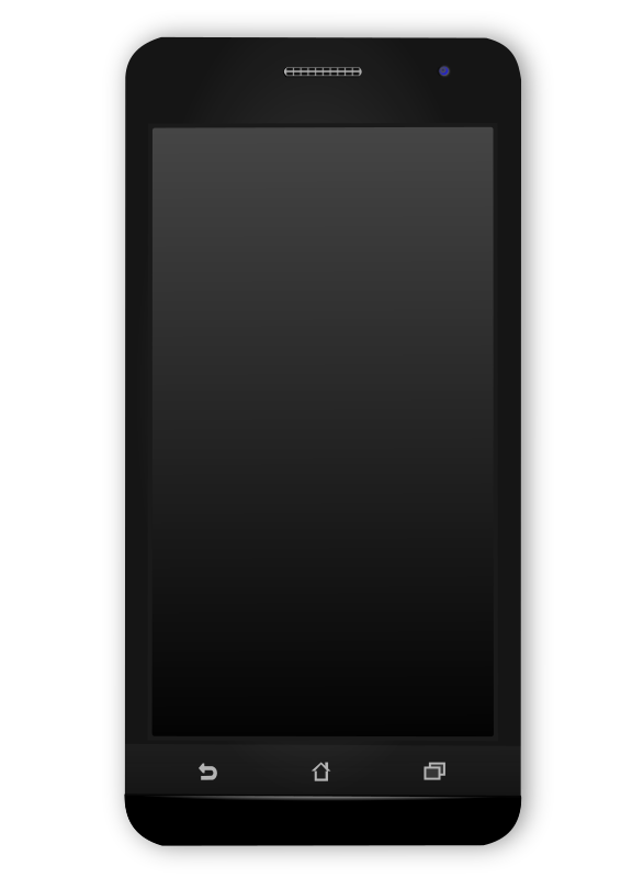Black android mobile phone