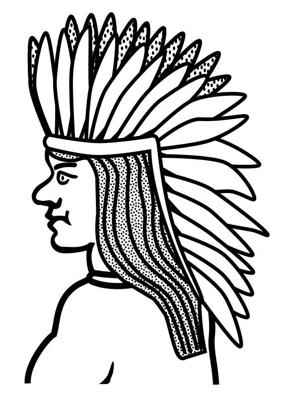 native american - lineart