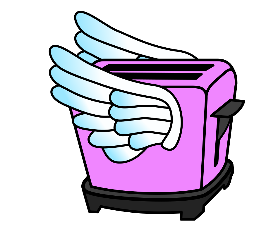 Pink Flying Toaster