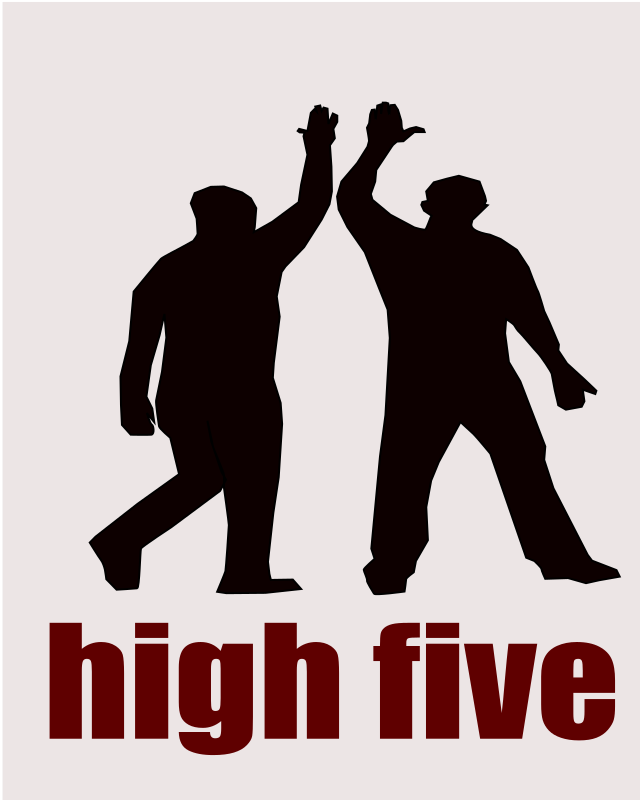 high five as hand gesture