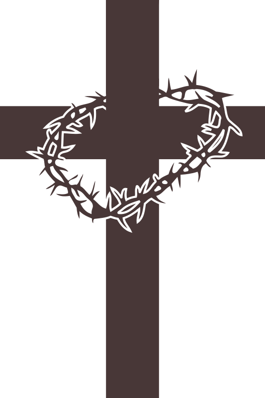 Cross and thorns icon