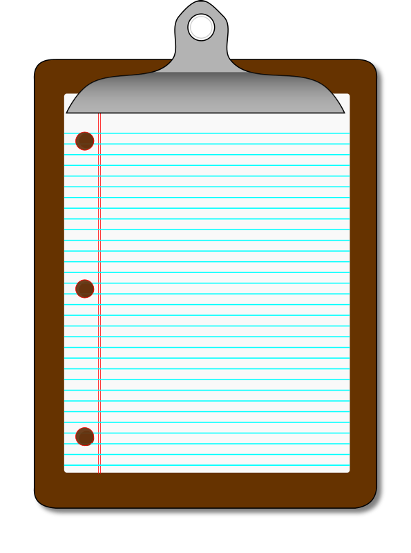 Clipboard/Lined Paper