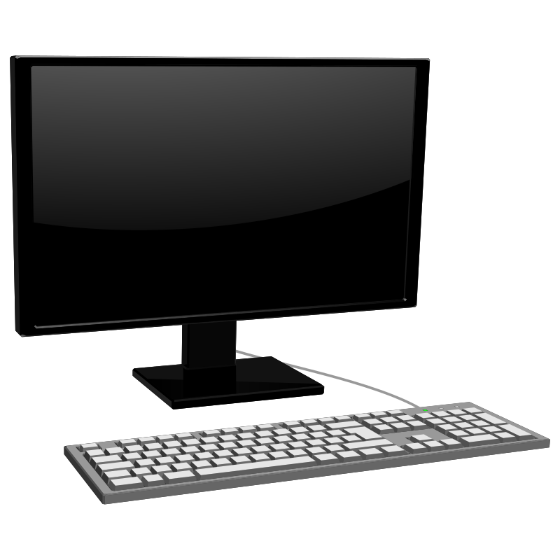 monitor with keyboard