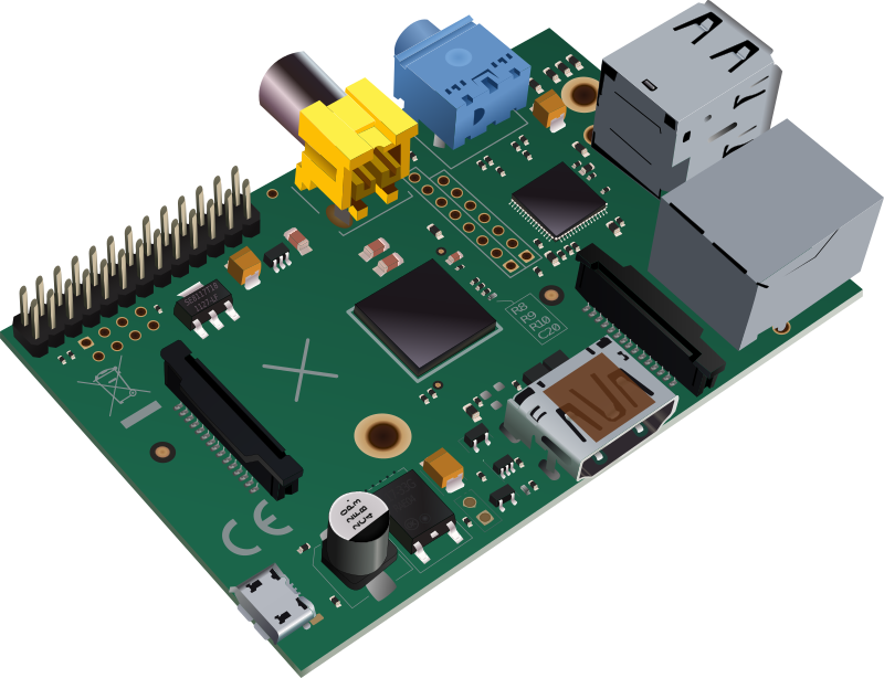 Raspberry Pi type-B (no logo edition)