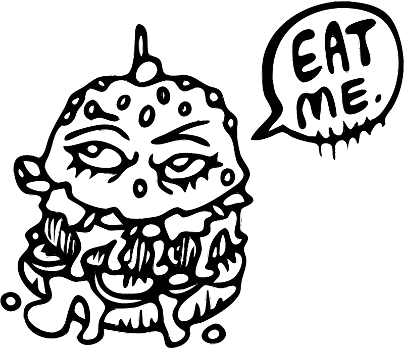Eat This Burger (black and white)
