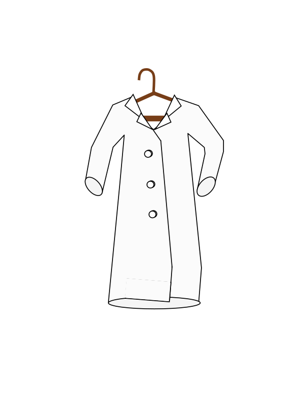 Lab coat on a hanger