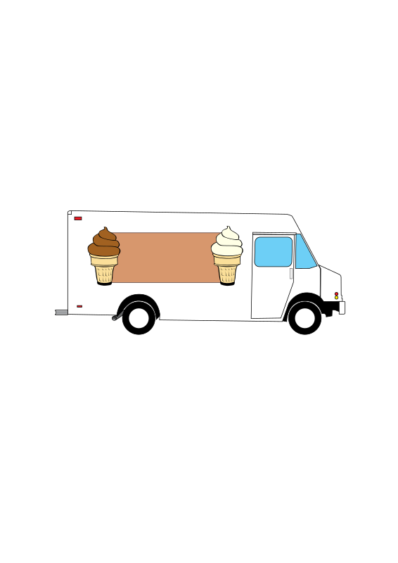 """Buy Ice Cream"" truck"