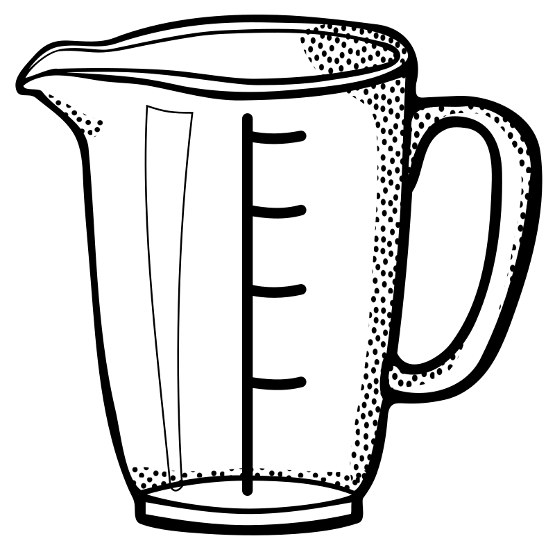 measuring cup - lineart
