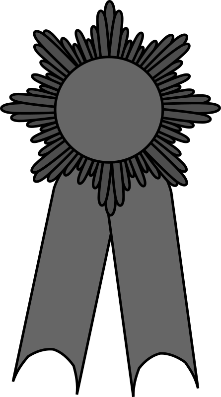prize ribbon gray