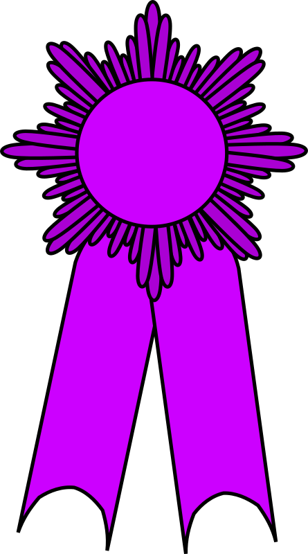 prize ribbon purple