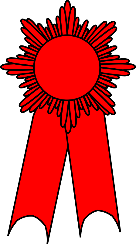 prize ribbon red
