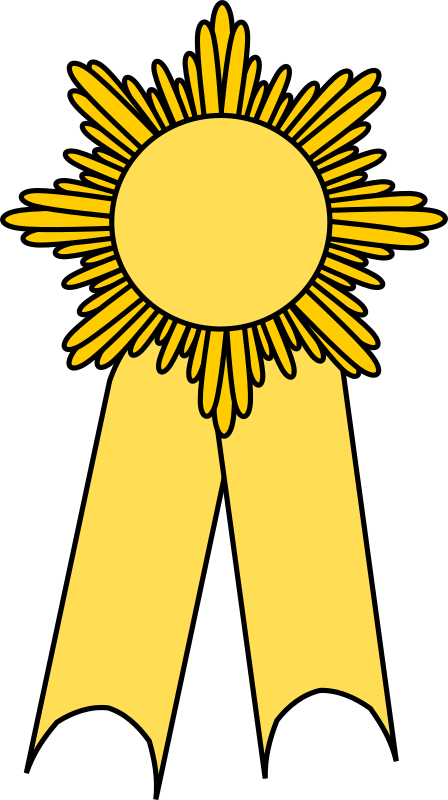 Prize ribbon gold